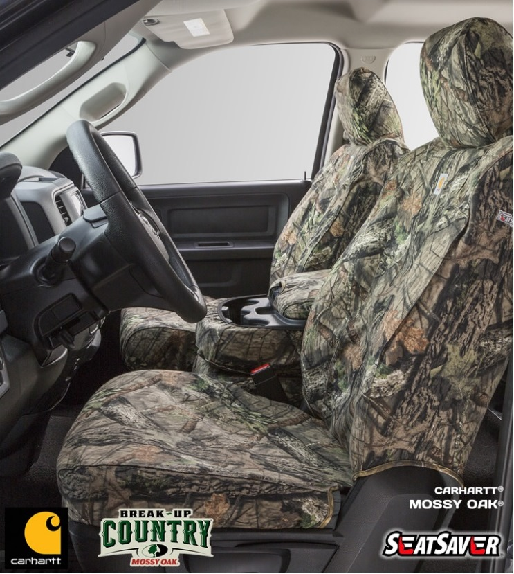 Carhartt Seat Covers - Mossy Oak Camo SeatSaver - Car Cover USA
