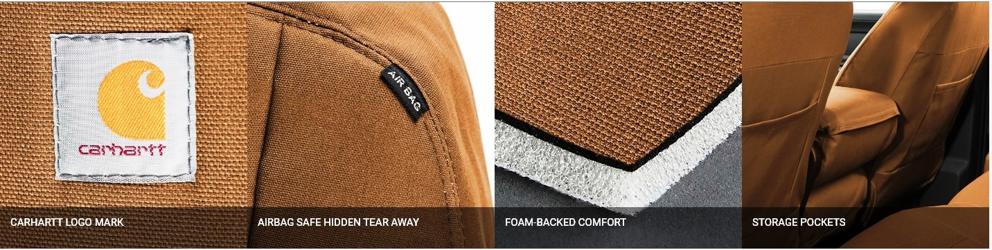 Carhartt Precision Fit Seat Cover Features