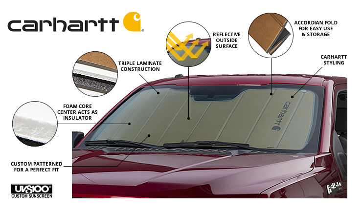 Carhartt UVS100 Windshield Sun Shield