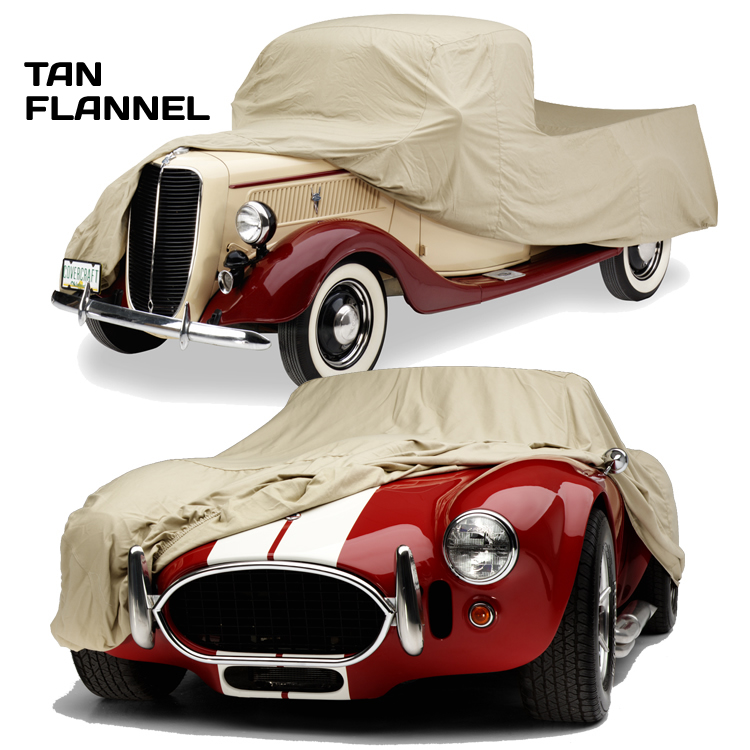 Covercraft Tan Flannel Car Cover