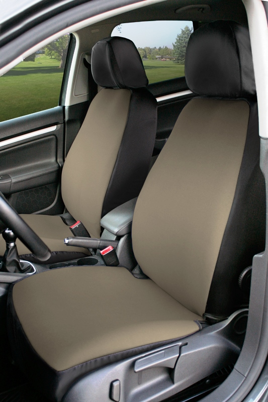 Coverking Value Custom Car Seat Covers: Beige