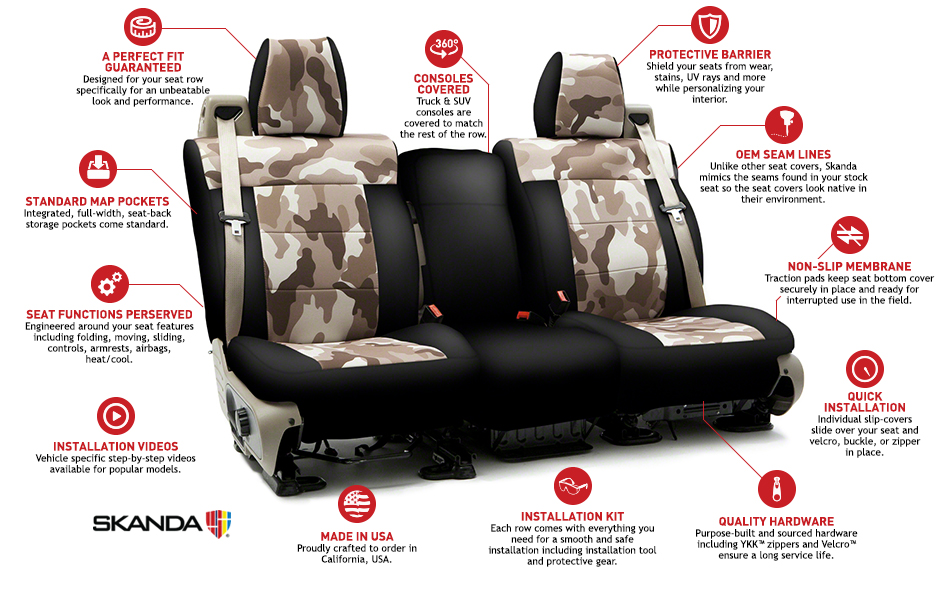 Coverking Skanda Camo Car Seat Covers