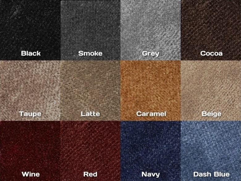 DashMat Velour Color Samples