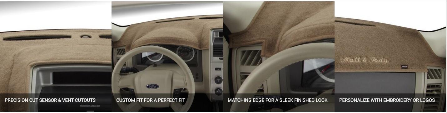 DashMat Original Dashboard Cover Ford and Mercury Premium Carpet, Mocha