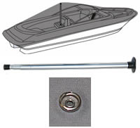 Boat Cover Support Kit with Patch